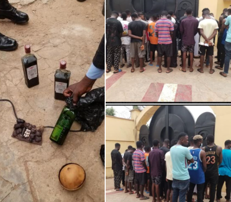 Suspected internet fraudsters and their charms arrested in Kwara