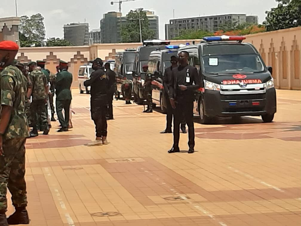 Photos/Videos from the ongoing funeral rites for the Chief of Army Staff and other military officers killed in an ill-fated military aircraft crash