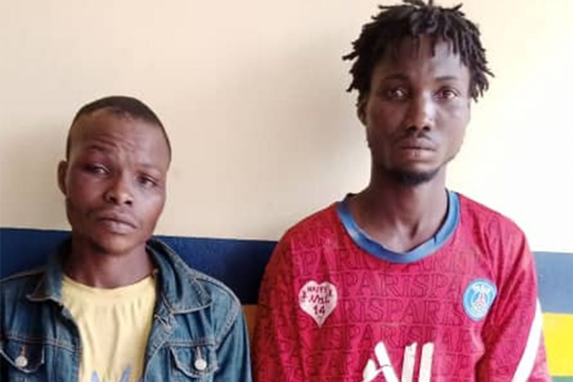 Two armed robbery suspects have been arrested by men of the Ogun State police command for robbing one Ajose Bilikisu, a point of sales (POS) operator at gunpoint. A statement released by the spokesperson of the state police command, DSP Abimbola Oyeyemi, said the duo were arrested following a distress call received by policemen attached to Idanyin divisional headquarters that four armed men were attacking a POS operator at Ketu Adiowe community and that the hoodlums had dispossessed the woman of her bag containing the sum of sixty thousand naira (N60,000), two androids phones and a bunch of key. ''Upon the distress call, the Dpo Idanyin division csp Olayinka Kuye quickly led his patrol team to the area, where the duo of Balogun Haruna 25yrs, aka Fitila and Imole Noah were arrested with the assistant from members of the community. The two other suspects escaped with their arms. On interrogation, Balogun Haruna who claimed to be a member of Eye confraternity, confessed to the commission of the crime, while the victim has also identified him and his partner as those who robbed her. An expended cartridge was recovered from them'' the statement in part read Oyeyemi said the state commissioner of police, CP Edward Awolowo Ajogun, has ordered the immediate transfer of the suspects to state criminal investigation and intelligence department for discreet investigation. He said the Commissioner also directed that the escaped members of the gang be hunted for and brought to book, as soon as possible.