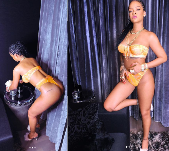 #Rihanna: Singer Shares New Pictures of Her Hot Soft-toned Body in Sexy Lingerie