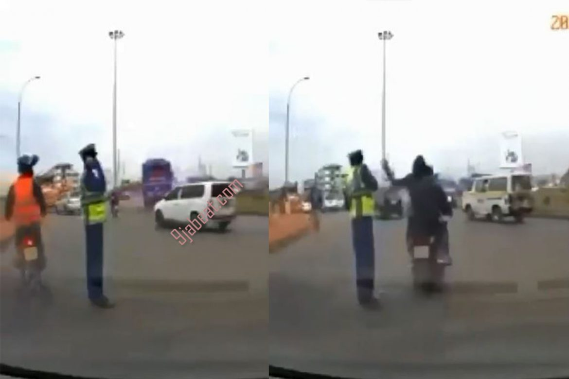 Height of Disrespect, Man on Bike Snatch Policeman's Phone in Viral Video