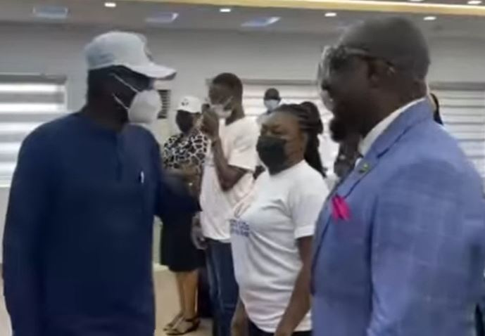 Watch Gov. Sanwo-Olu's reaction after meeting Jim Iyke at a Lagos event (video)
